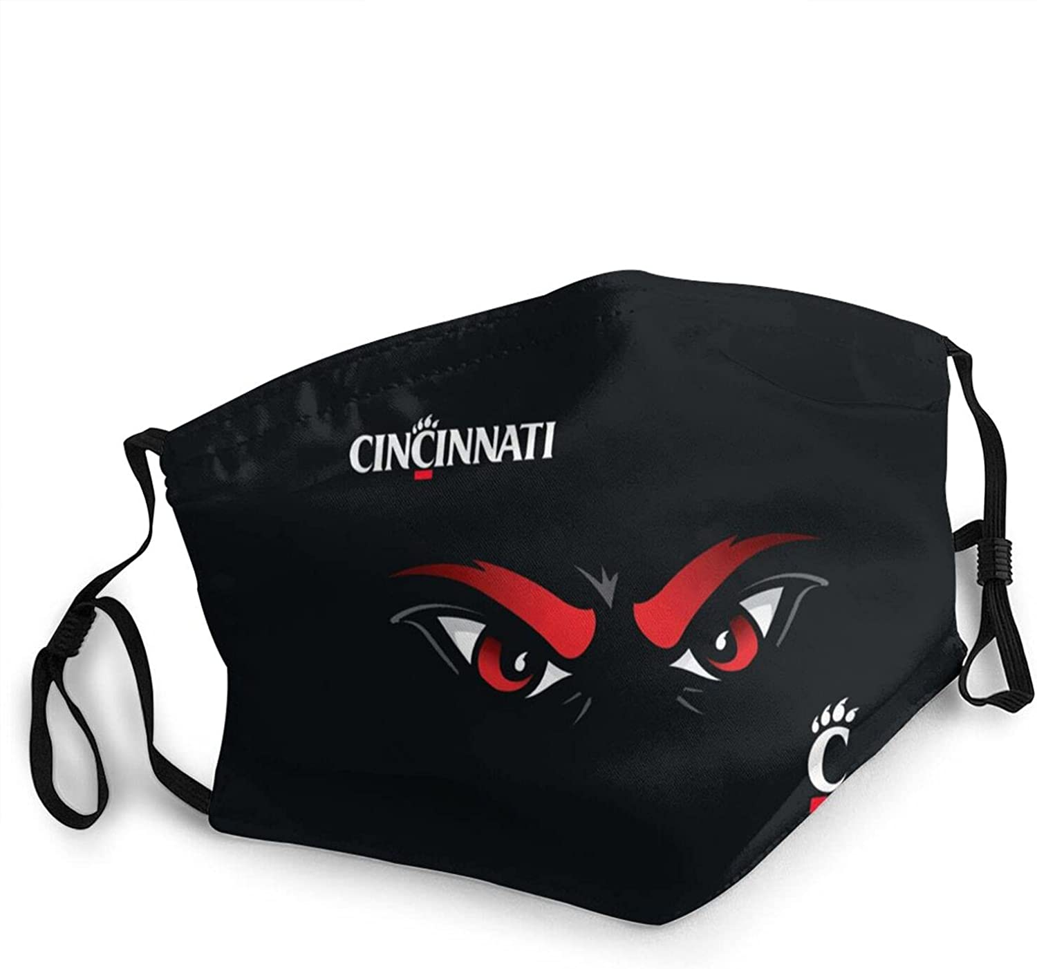 University of Cincinnati, Mask, Ripstop Protective Face Shield, Adjustable Mouth Cover for Men Women