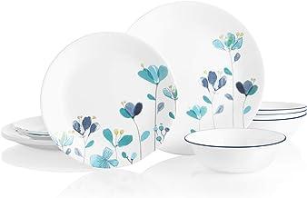 Corelle Boutique Round 12-Piece Dinnerware Set, Service for 4 (Mountain Blossom)