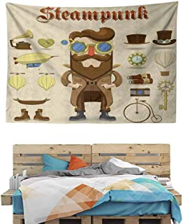 HuaWuChou Hipster Gentleman Tapestry DIY, Wall Hanging for Bedroom Living Room Dorm, 90.5W x 59L Inches