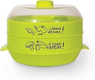 Cuisy CMP Accesorio para cocinar al vapor , plástico, multicolor, 2 ÉTAGES - 2,4 L