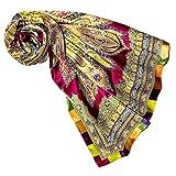 LORENZO CANA Foulard pour la femme – écharpe à la mode de 100% soie pour le printemps et l´été avec les mesures de 100 x 100 cm – soyeux, élégant et très coloré