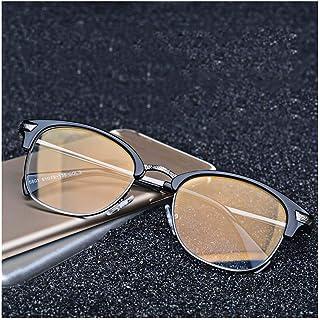 Retro Anti-Blauw Bril, Anti-Glare Vision bril Vermoeidheid, gouden coating lenzen-Reading Game computerscherm Glazen Ontlast