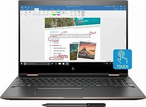 HP Spectre x360-15t Quad Core(8th Gen Intel i7-8550U, 16GB RAM, 512G PCIe NVMe SSD, 4K IPS micro-edge Corning Gorilla, Windows 10)Bang & Olufsen 15.6
