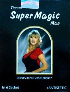Super Magic Man スーパーマジックマン ウェットティッシュ (6枚入) 携帯に便利な梱包タイプ okamo オリジナルパック セット [並行輸入品]