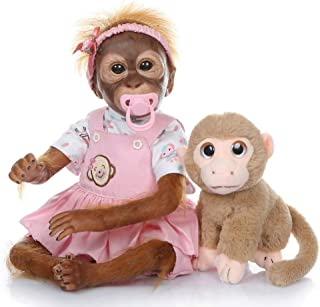 Aoile 52CM Handmade Detailed Paint Reborn Baby Monkey Newborn Baby Collectible Art