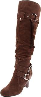 Naughty Monkey Women's Rockin Robin Knee-High Boot,Taupe,8 M US