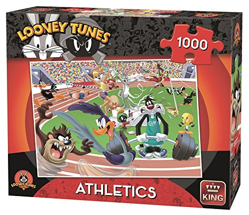 King Kng05599 Looney Tunes Athletics Puzzle (Lot de 1000)