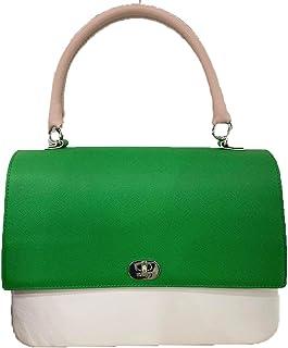Obag Queen Handtasche grün kurzer Griff Puder