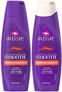 Aussie Miraculously Smooth Shampoo and Conditioner Set 13.5 oz Bottles
