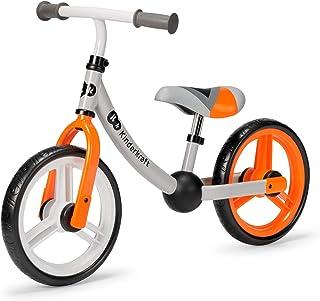 Kinderkraft Balanscykel 2WAY NEXT, springcykel, gåcykel för barn, småbarn, orange