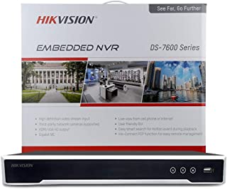 4K 8-Channel PoE Network Video Recorder NVR, Embedded Plug & Play DS-7608NI-I2/8P(2019 New Version)