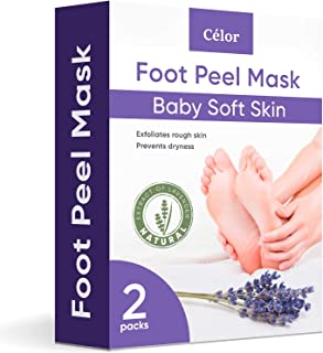 Foot Peel Mask - Foot Mask 2 Pack for Baby Feet and Remove Dead Skin - Baby Foot Peel Mask with Lavender and Aloe Vera Gel...
