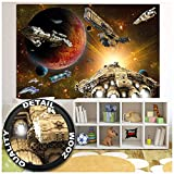 GREAT ART XXL Poster Kinderzimmer – Galaxy Adventure –