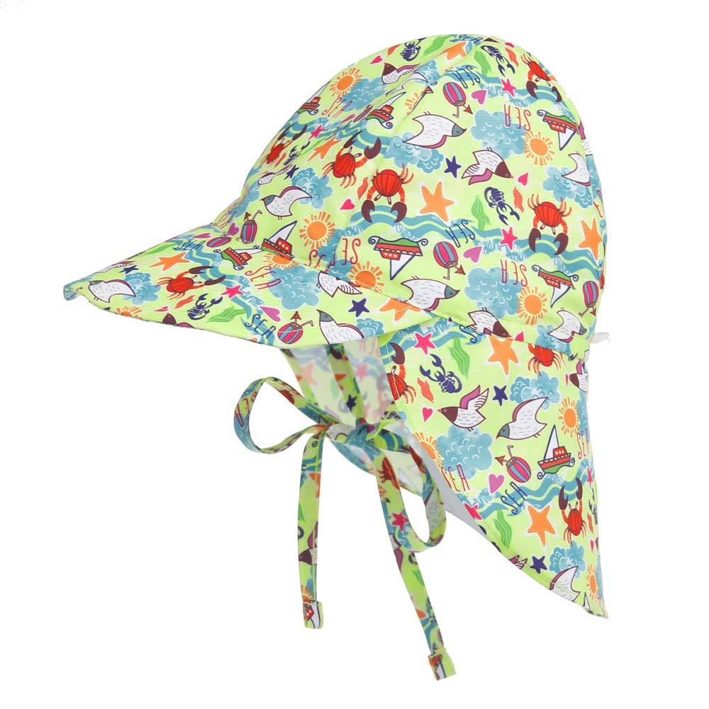 LACOFIA Toddler Baby Sun Hat Unisex Kids Summer Bucket Hat Wide Brim for Outdoor Swim Beach Pool Adjustable//UPF 50+