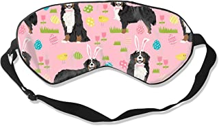 Bernese Mountain Dog Easter Cute Spring Pastel Dog Silk Sleep Mask Comfortable Blindfold Eye mask Adjustable for Men, Women or Kids