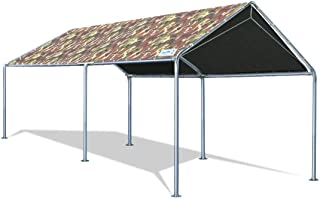 Quictent 10`X20` Upgraded Heavy Duty Carport Car Canopy Party Tent with Reinforced Steel Cables-Camo