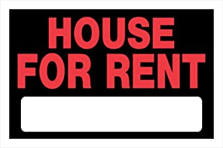 Hillman 839934 House For Rent Sign with Space for Fill In, Black and Red Plastic, 8x12 Inches, 1-Sign