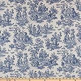 Waverly Rustic Life Toile Indigo Fabric by the Yard