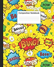 Composition Notebook: Superhero Comic Wide Lined Blank Journal for School and College | Nifty Cartoon Blank Wide Ruled Notebook for Notes and Writing for Students and Kids.