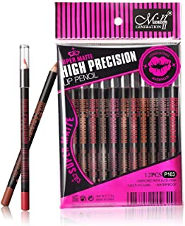 MN makeup super matte lip liner pencil set 12 color