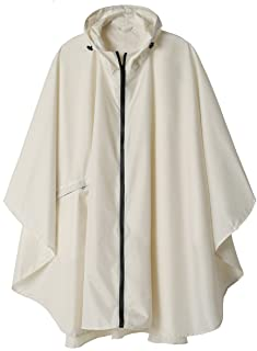 fc49691648b Rain Poncho Jacket Coat Hooded for Adults with Pockets
