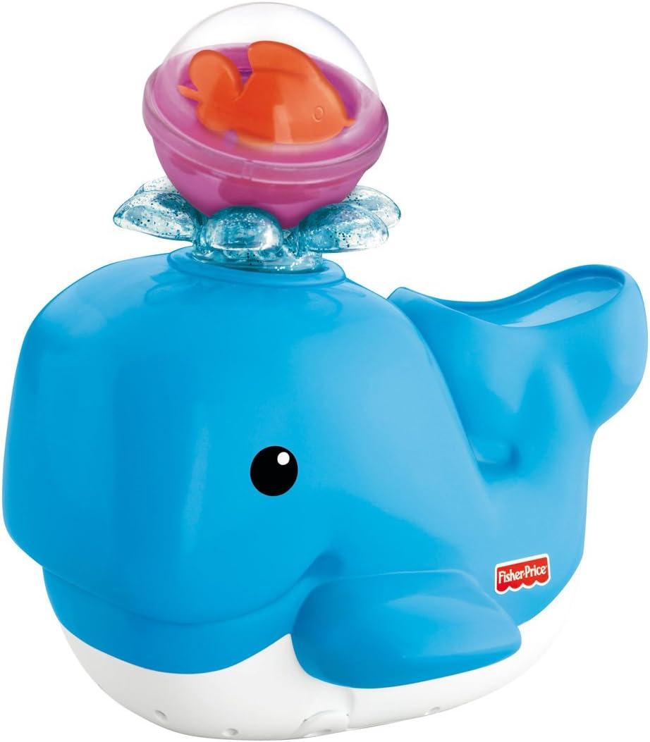 Translated Spasm price Fisher-Price Brilliant Basics Spray Whale Lights Bath 'N