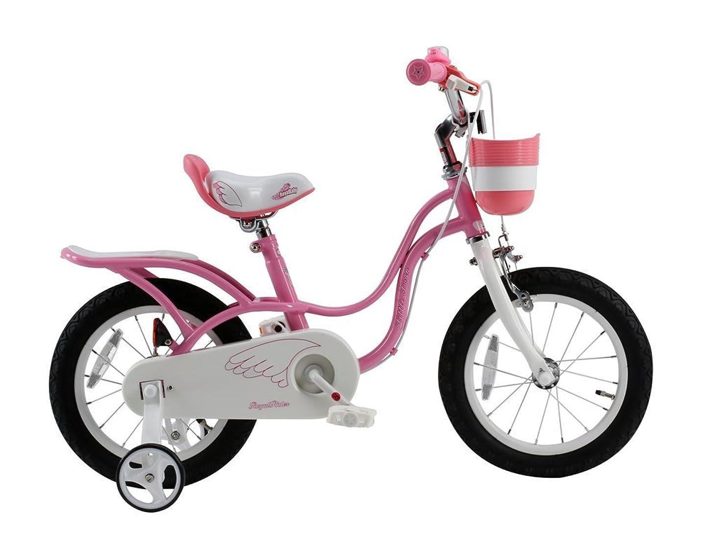 バン是正するマザーランドROYALBABY(ロイヤルベイビー) 16インチ 補助輪付き 子ども用 自転車 ピンク [メーカー保証1年] チェーンケース カゴ リアキャリア RB-WE LITTLE SWAN