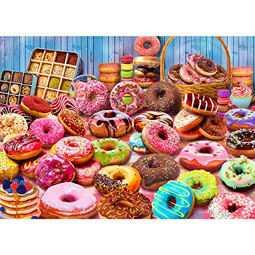 Jigsaw Puzzles for Adults 1000 Piece Puzzle for Adults 1000 Pieces Jigsaw Puzzle 1000 Pieces-Donuts Dessert