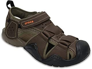 Crocs Men's Swiftwater Leather Fisherman Sandal