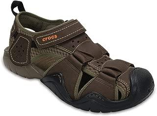 Crocs Men's Swiftwater Leather M Fisherman Sandal