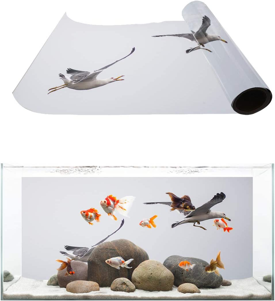 TH XHome 1 year warranty Max 72% OFF Aquarium Décor Backgrounds Seagull Birds Patter Animal