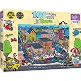 MasterPieces 101 Things to Spot Right Fit Puzzles Collection - 101 Things to Spot in Town 100 Piece Jigsaw Puzzle