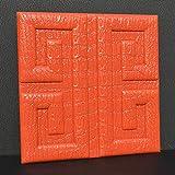TWTIQ Papier Peint Aspect Cuir De Croco Imitation - Sticker Mural En 3D Mousse Pe...