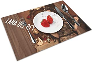 Heather D Woolard Lana Del Rey Dinning Table Mats Protect Your Tables Cratches 12x18 in 4 Pieces