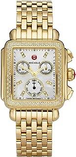 Deco Gold Diamond Women's Watch Diamond Dial with