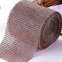Rhinestone Diamond Ribbon, Southlight Silver Bling Diamond Wrap Ribbon for Event Decorations, Wedding Cake, Bridal & Party Decorations Acrylic Bling Rhinestone Roll(1 Roll, 30Ft,10 Yards)(Glod)