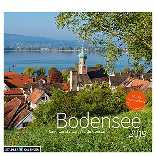 Bodensee 2019: Postkarten-Tischkalender