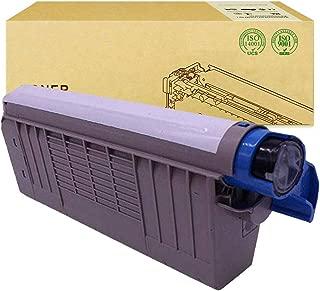 Compatible with OKI C5800 Toner Cartridge for OKI C5500 C5600 C5650 C5700 C5750 C5800 C5900 Color Laser Printer Cartridge,Blue