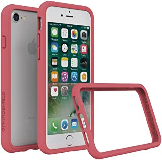 RhinoShield Ultra Protective Bumper Case [ iPhone 8/7 ] CrashGuard, Military Grade Drop Protection for Full Impact, Slim, Scratch Resistant, Coral Pink