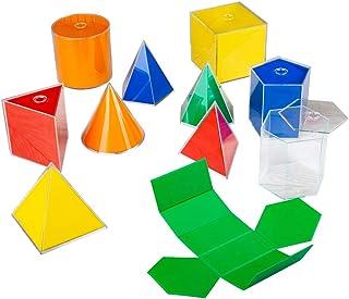 Bigjigs Toys Plegables 2D 3D geométricos Sólidos 10 Piezas