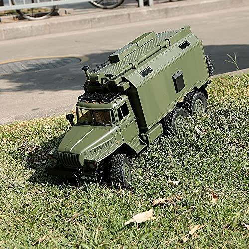 Moerc Fernbedienung Auto RC Military Truck 2.4GHz Offroad RC Army Truck Elektrische Roller Crawler Fahrzeugrennen Buggy Hobbyauto Kinder Jungen Erwachsene Geschenk (Größe : 1 Battery Pack)