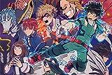 SJJUAN My Hero Academia Puzzle De Dibujos Animados 1000 Piezas Anime Adultos Rompecabezas De Madera Rompecabezas 1000 Piezas Juguetes para Niños