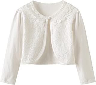 076f3df2d CHENXIN Girl Shrugs Knit Long/Short Sleeve Lace Bolero Cardigan Shrug