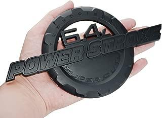 1 pcs 6.4L Powerstroke Emblem Power Stroke Super Duty Badge Compatible for Ford F250 F350 (Matte Black)
