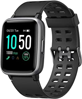 Smart Watch for Android and iOS Phone IP68 Waterproof, Fitness Tracker Watch with Heart Rate Monitor Step Sleep Tracker, Smartwatch Compatible with iPhone Samsung, Watch for Men Women