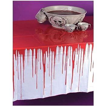 NET TOYS Tovaglia di Halloween decorazione per tavola panno stracciato decorativo per la stanza stoffa per party di Halloween 75 x 300 cm