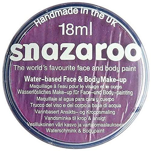 Snazaroo- Pintura facial y Corporal, 18 ml, Color lila, 18ml (Colart 18877)