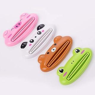 GIM KTYGQ Animal Tube Squeezer Cartoon Bagno Dentifricio Dispenser Distributore di Pasta Facile da spremere Maiale Panda Orso Rana Verde