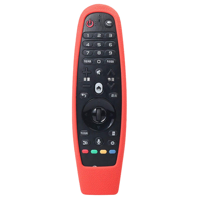 Vococal Funda Protectora de Silicona a Prueba de rasguños a Prueba de Polvo Compatible con Sikai LG AN-MR600 AN-MR650A Smart TV Control Remoto Rojo: Amazon.es: Electrónica