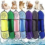 Toalla para Mascotas LLMMZD Toalla para Perros Toalla Microfibra Secador de Perro Albornoz de Secado Rápido para Mascotas